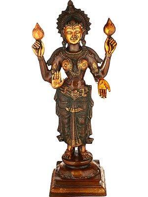 Large Size Four-Armed Standing Lakshmi