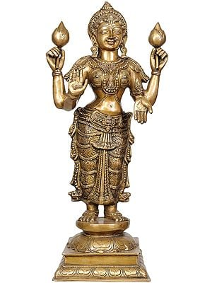 Large Size Four-Armed Standing Lakshmi