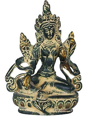 Tibetan Buddhist Saviour Goddess Green Tara (Small Statue)