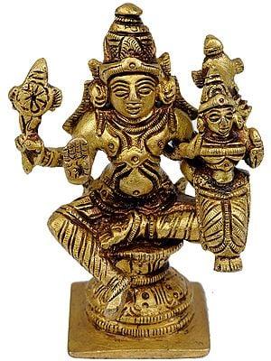 Lord Vishnu with Goddess Lakshmi (Small Statue)