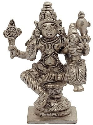 Lord Vishnu with Goddess Lakshmi (Small Statue)