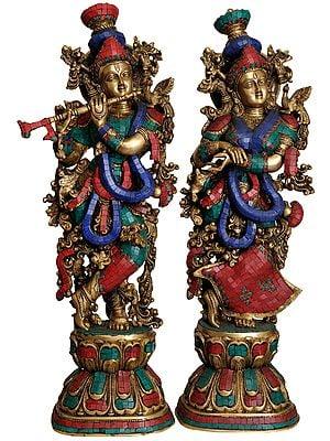Radha Krishna (Inlay Statue)