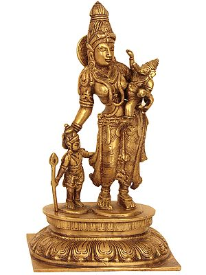 Goddess Parvati with Her Sons Ganesha and Karttikeya