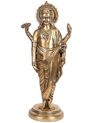Dhanvantari - The Physician of the Gods (Holding the Vase and Herbs of Immortality)