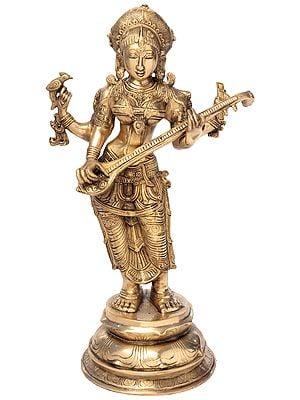 Four-Armed Standing Saraswati