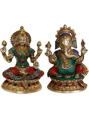 Lakshmi-Ganesha (Inlay Statues)