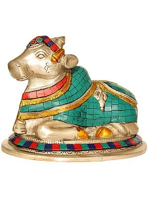 Nandi - The Vehicle of Shiva (Inlay Statue)