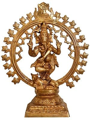 Large Size Lord Ganesha as Nataraja