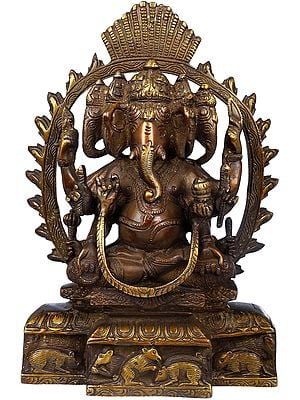 Eight-Armed Five-Headed Ganesha