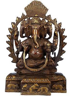 Eight-Armed Five-Headed Ganesha