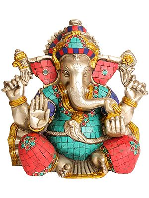 Lord Ganesha Seated in Easy Posture