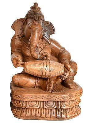 Musician Ganesha Playing Dholaka