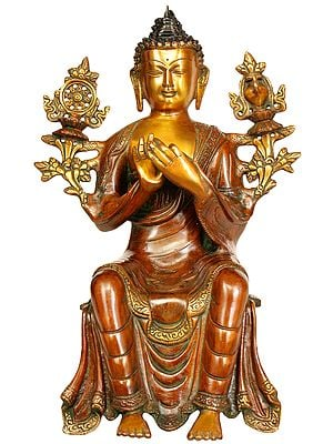 Tibetan Buddhist Deity Maitreya - The Future Buddha (To Be Seated on Edge)