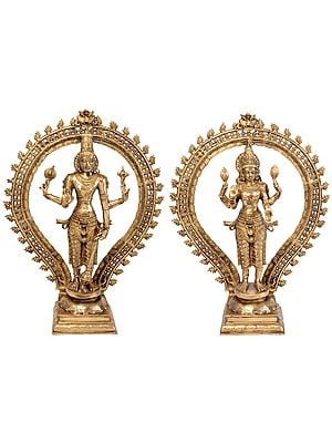 Lord Vishnu and Goddess Lakshmi (Large Statues)