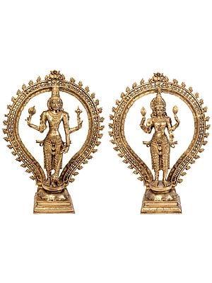 Lord Vishnu and Goddess Lakshmi (Large Statues)