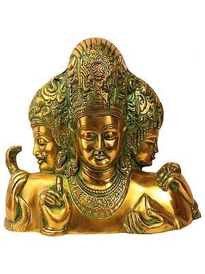 Trimurti From Elephanta (Brahma, Vishnu and Mahesha)