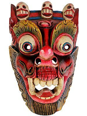 Tibetan Buddhist Deity Yamantaka Wall Hanging Mask