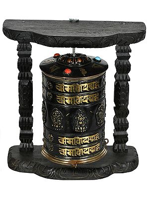 Made in Nepal Enshrined Prayer Wheel (Tibetan Buddhist)