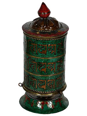 Made in Nepal Om Mani Padme Hum Prayer Wheel - Tibetan Buddhist