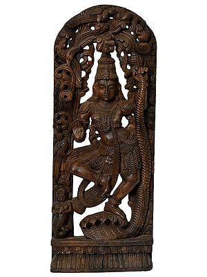 Krishna Subdues Kaliya (Large Size)