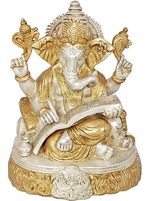 Lord Ganesha Writing Mahabharata