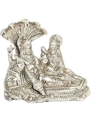 Lord Vishnu and Goddess Lakshmi Seated on Sheshnag