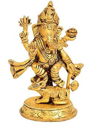 Lord Ganesha Standing on Rat