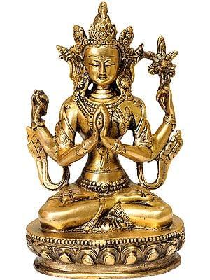 Tibetan Buddhist Deity Chenrezig (Four Armed Avalokiteshvara)