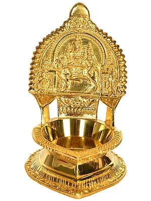 Shiva Parvati on Nandi Puja Diya