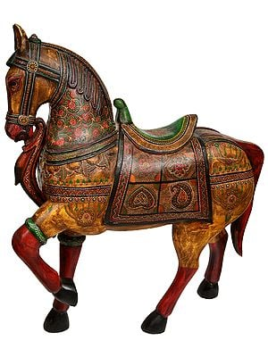 Large Size His Majesty, The Painted Wooden Horse
