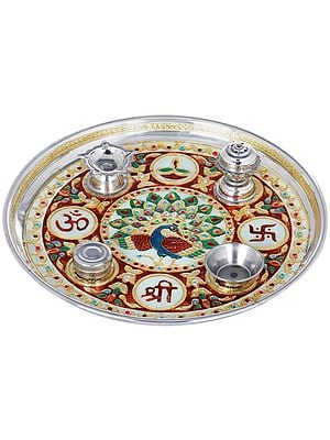 Shri OM Puja Thali