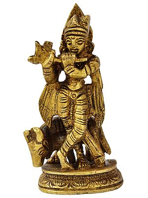 Fluting Krishna (Small Statue)