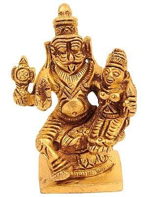 Narasimha with His Shakti (Small Statue)
