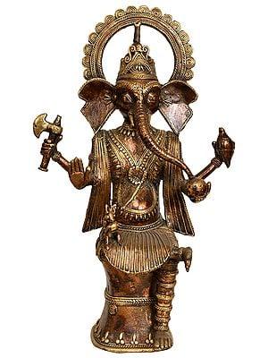 Lord Ganesha (Tribal Statue from Bastar)
