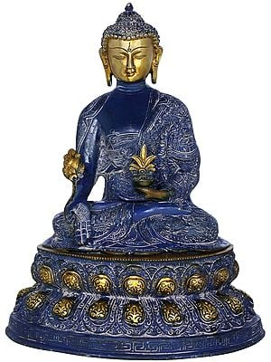 Medicine Buddha Seated on Double Lotus (Tibetan Buddhist Deity)