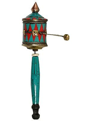 Handheld Made in Nepal Prayer Wheel (Tibetan Buddhist)