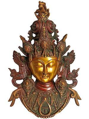 Tibetan Buddhist Deity- Tara Mask (Wall Hanging)