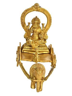 Goddess Lakshmi Riding on Elephant Chariot