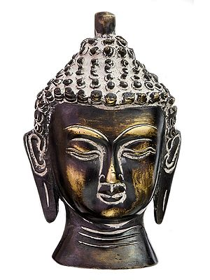 Meditative Buddha Head (Small Sculpture)