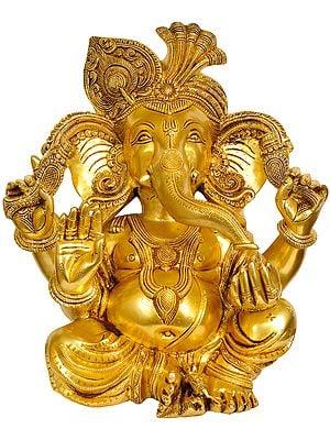 Large Size Turbaned Ganesha