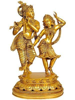 Large Size Dancing Radha-Krishna