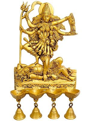 Goddess Kali Wall Hanging Lamps with  Bells