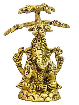 Lord Ganesha Under a Tree (Small Statue)