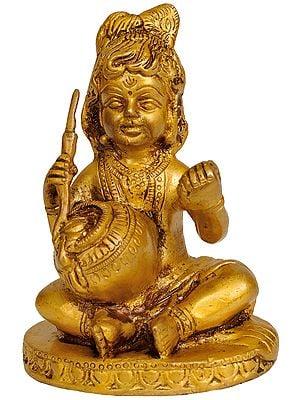Butter Thief Baby Krishna (Laddoo Gopala)