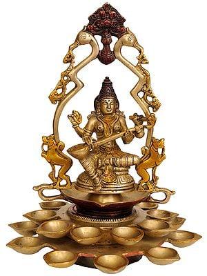 Goddess Saraswati Lamp