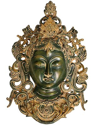Goddess Tara Mask (Tibetan Buddhist Wall Hanging)