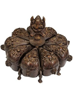 Lord Ganesha Ritual Box with Lids