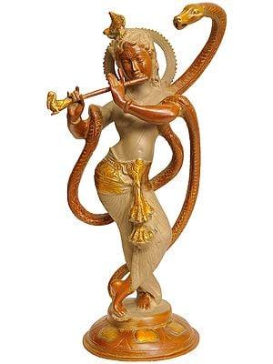 Shri Krishna with Kaliya