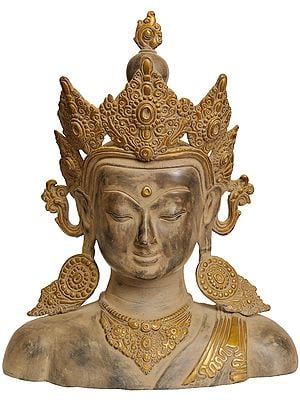 Crown Buddha Bust (Tibetan Buddhist Deity)