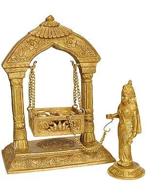 Yashoda Ji Swinging Baby Krishna